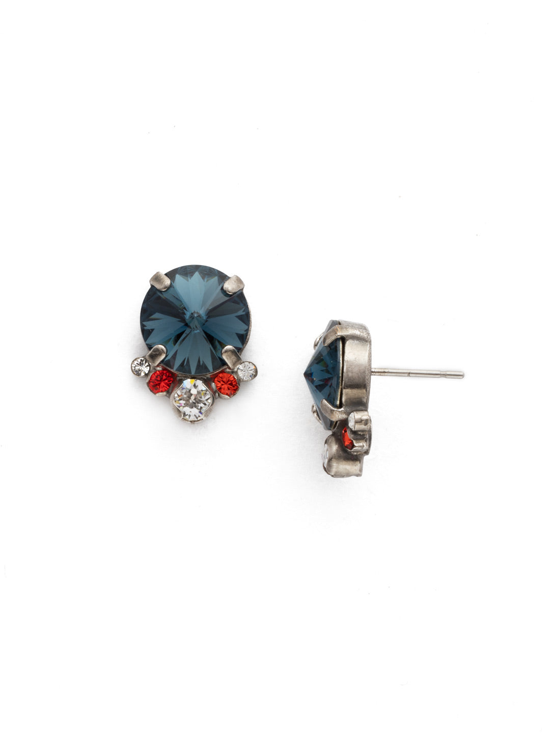 Regal Rounds Stud Earrings - EDH98ASBTB