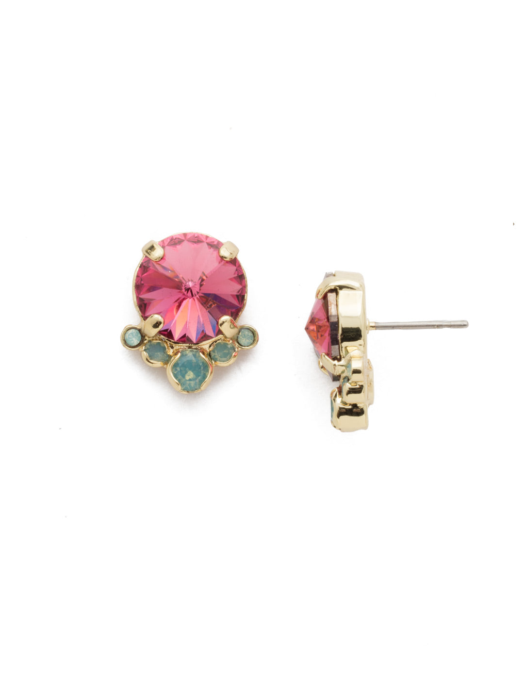 Regal Rounds Stud Earrings - EDH98BGCPO