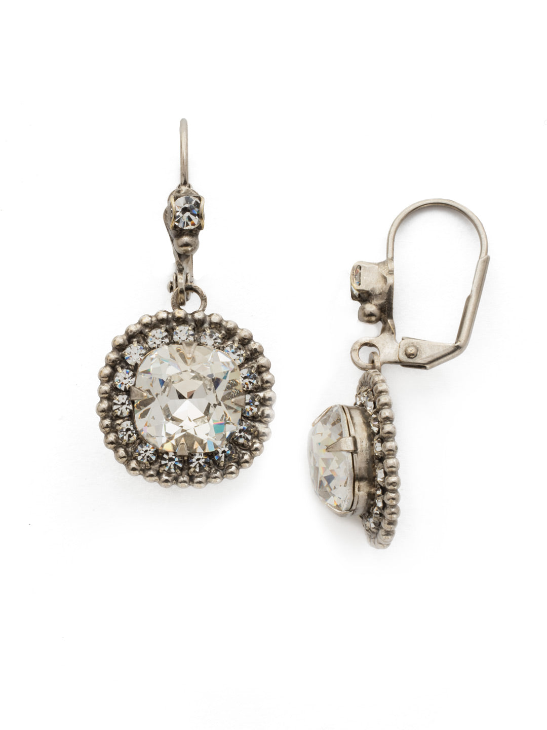 Cushion Cut Crown Earring - EDK4ASCRY
