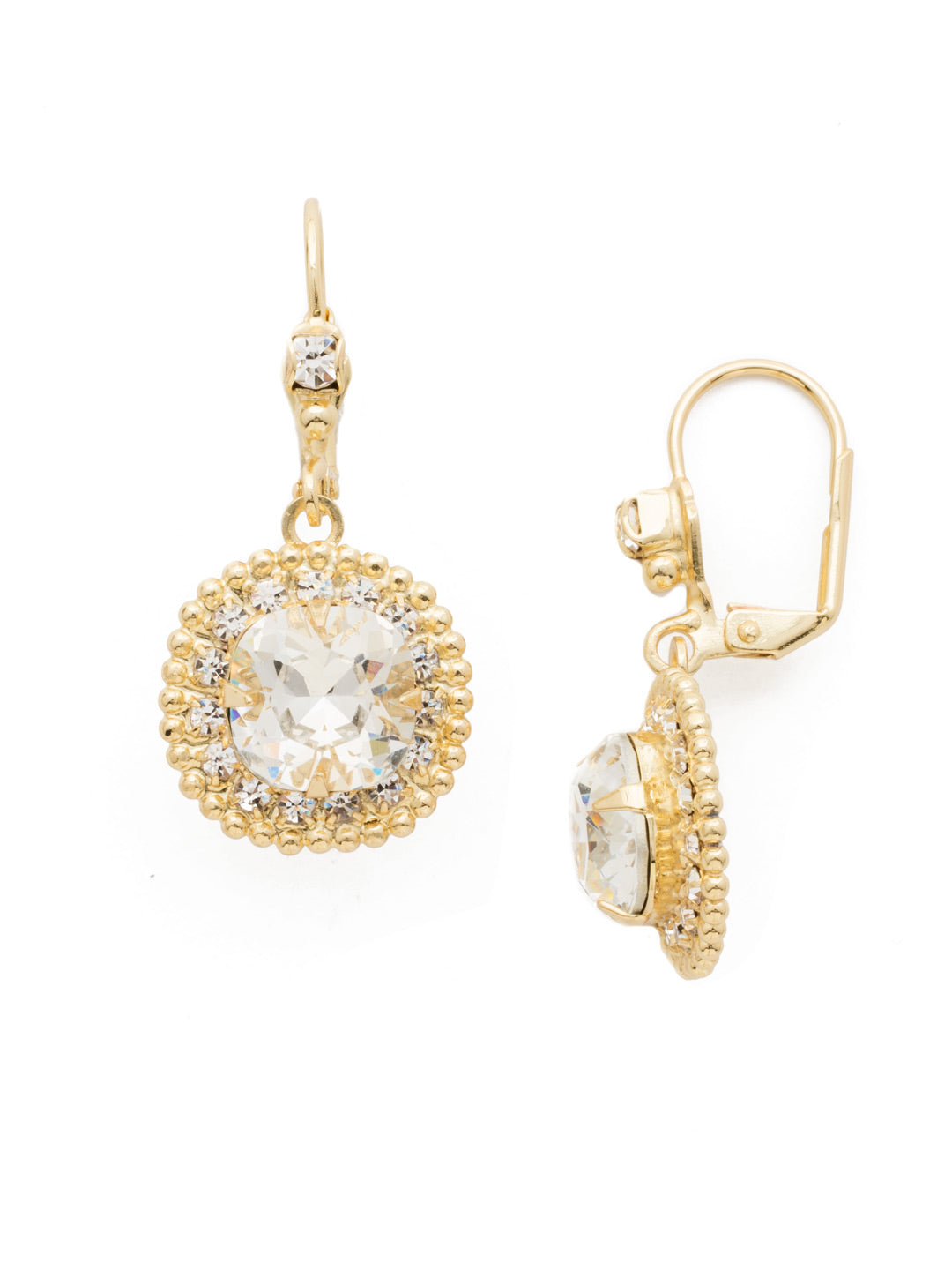 Cushion Cut Crown Earring - EDK4BGCRY