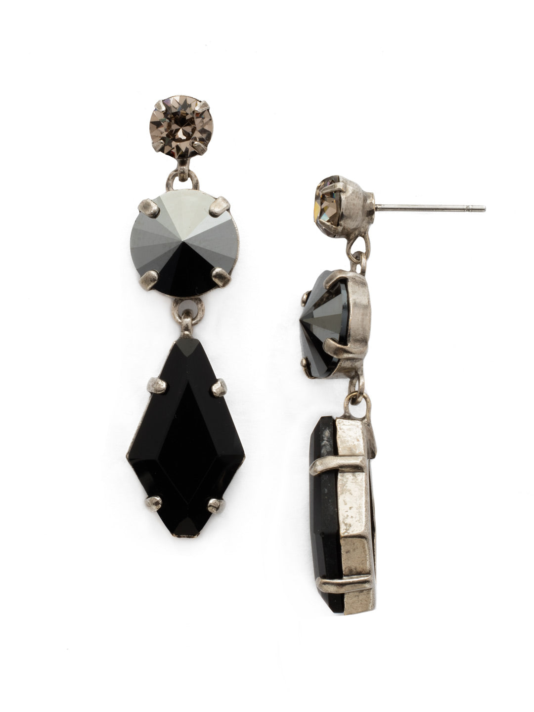 Rhombus Roundabout Dangle Earrings - EDK58ASBON