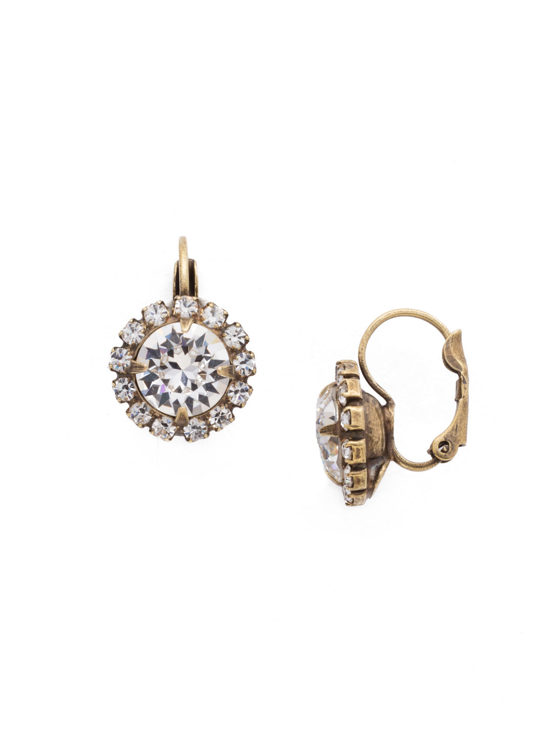 Haute Halo Stud Earrings - EDL10AGCRY