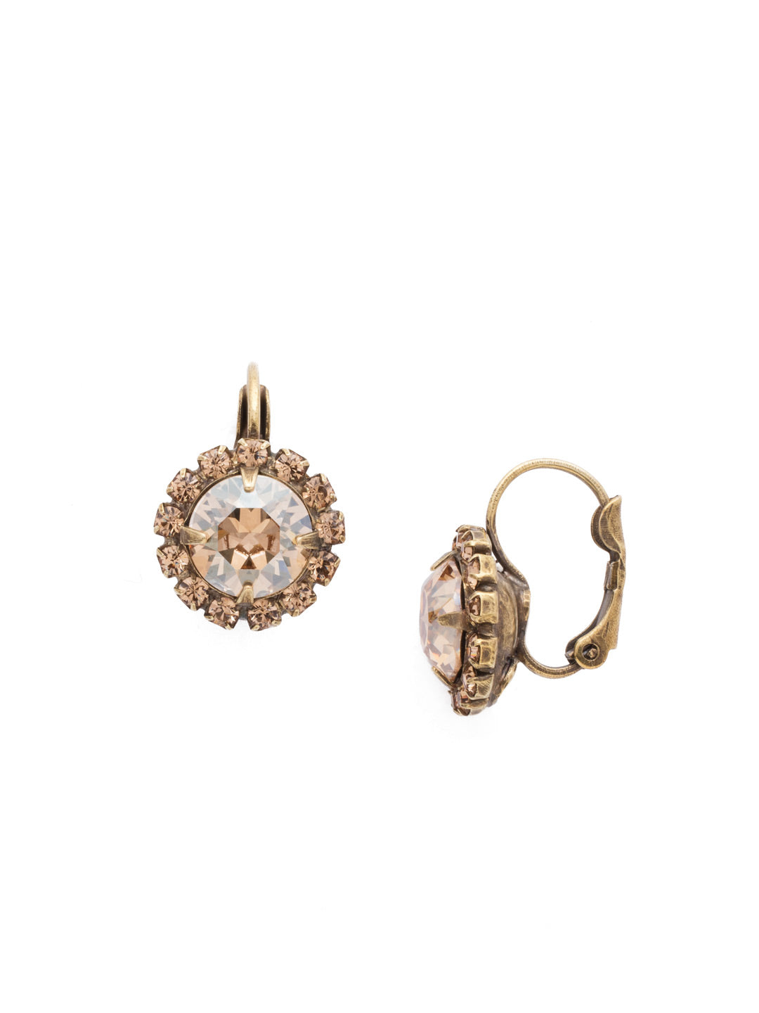 Haute Halo Stud Earrings - EDL10AGNT