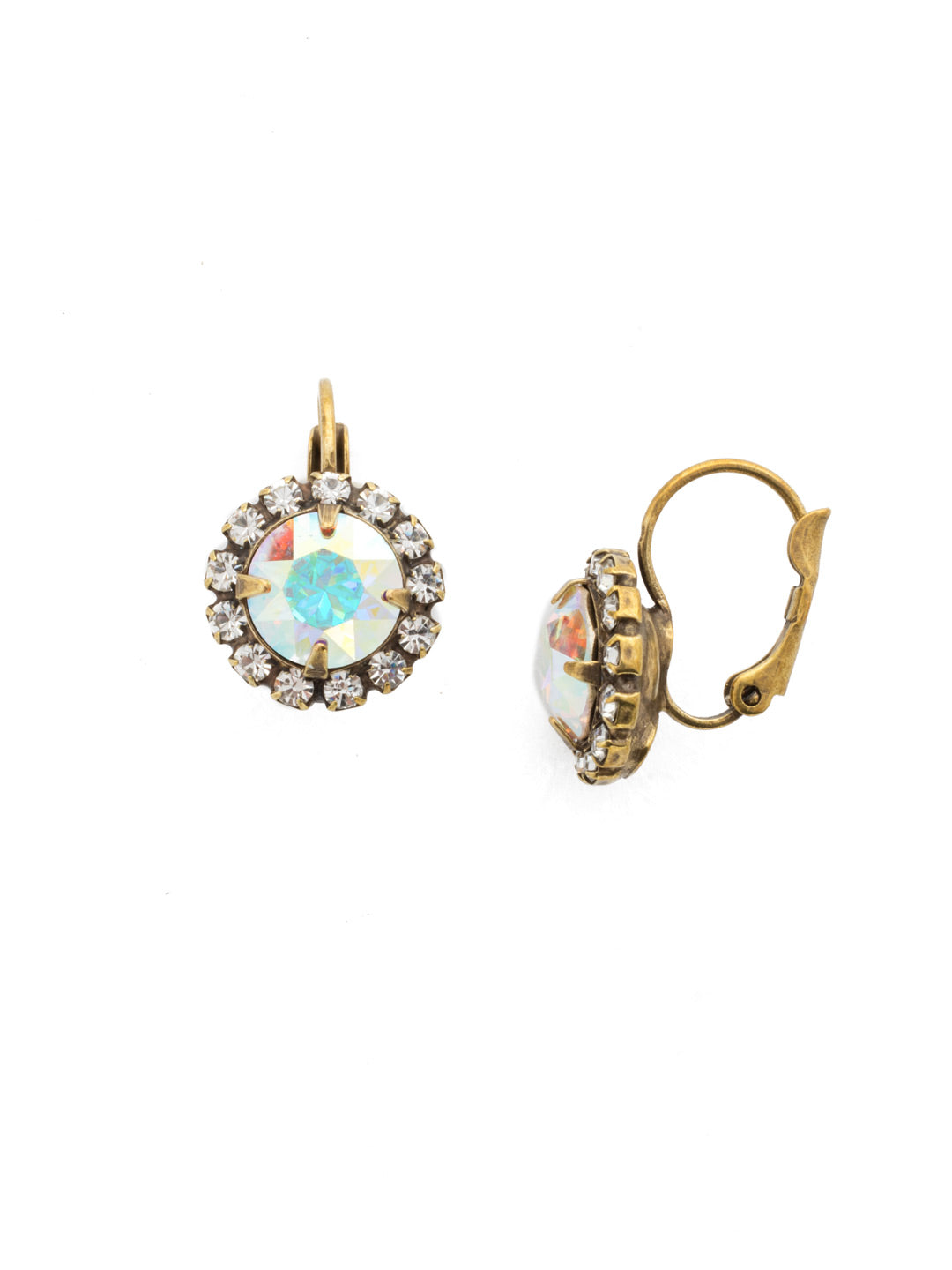 Haute Halo Stud Earrings - EDL10AGSNF