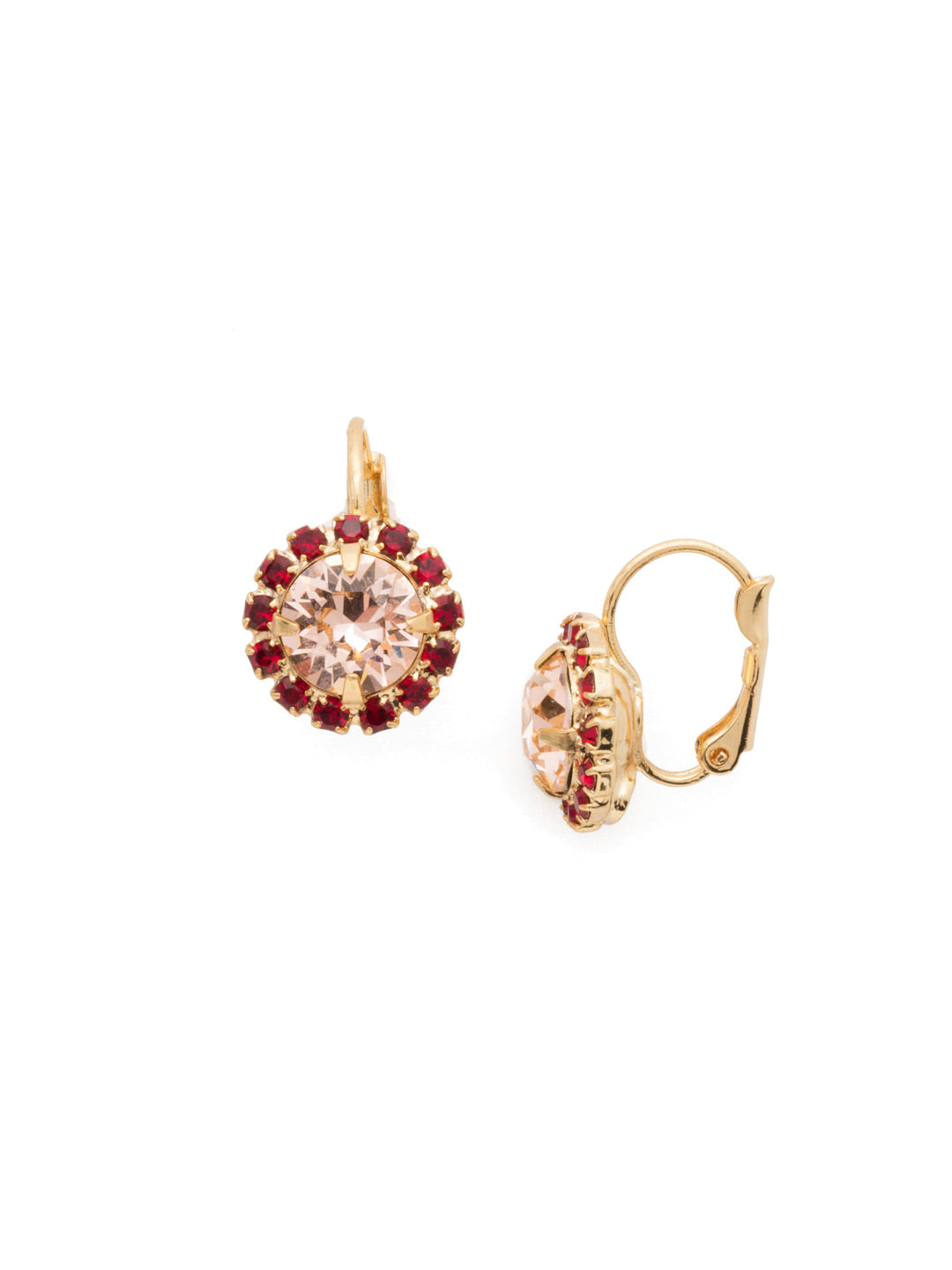 Haute Halo Stud Earrings - EDL10BGSRC