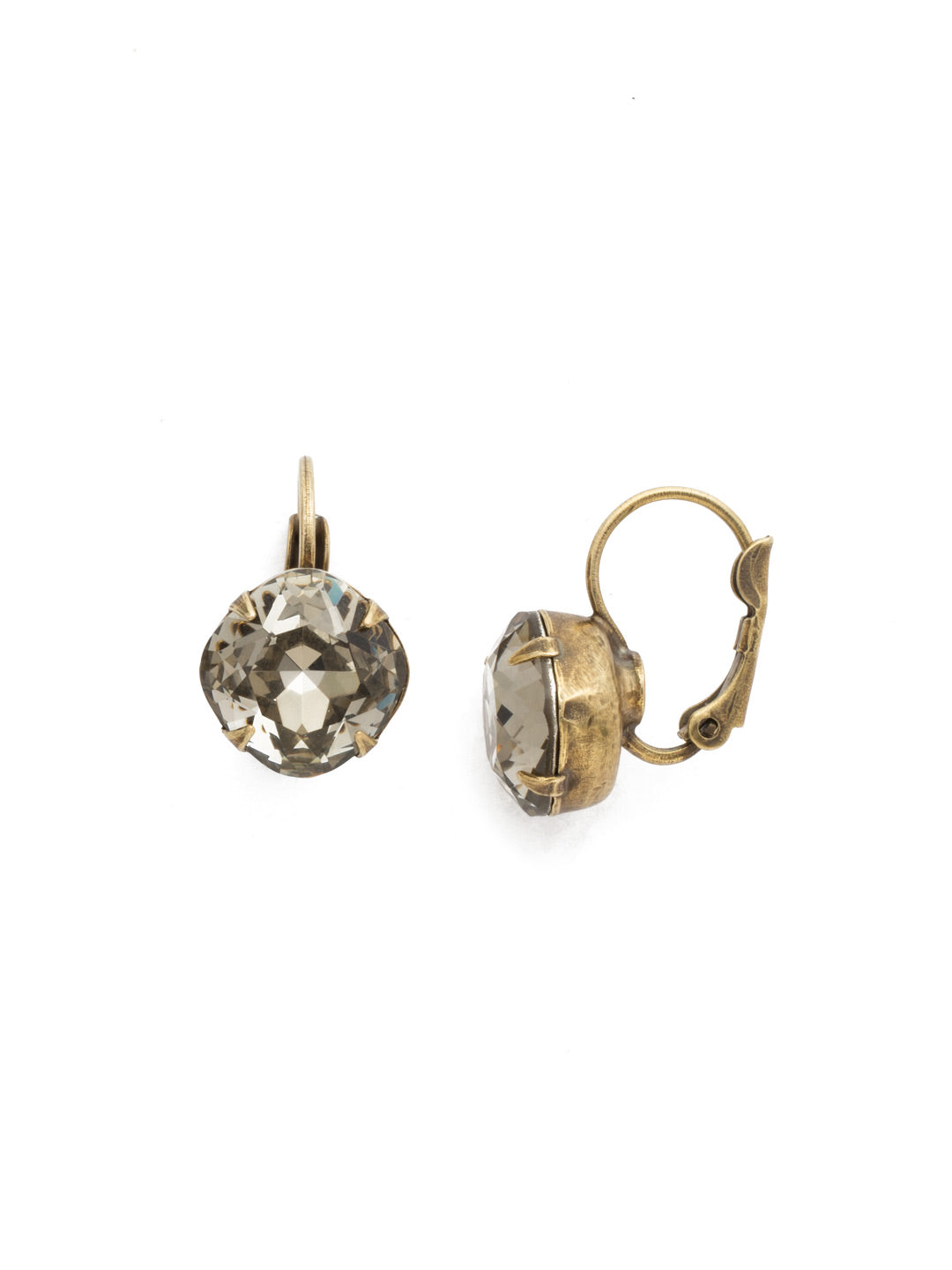 Cushion Cut French Wire Earrings - Sorrelli Essentials - EDL12AGBD