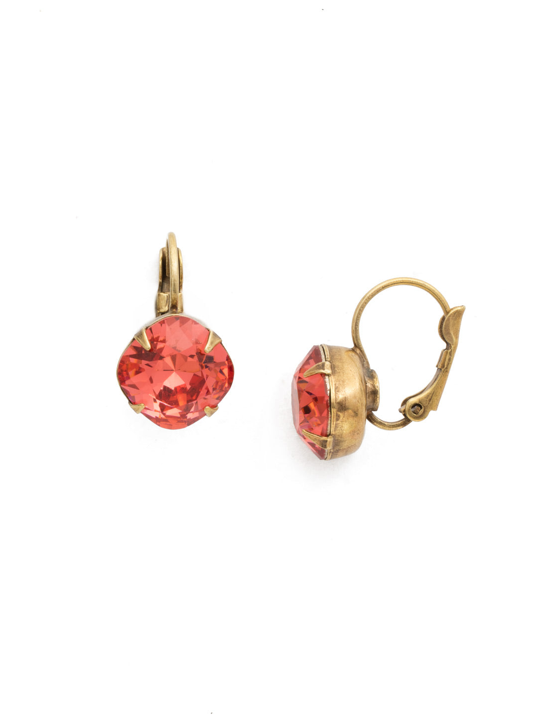Cushion Cut French Wire Earrings - Sorrelli Essentials - EDL12AGCRL