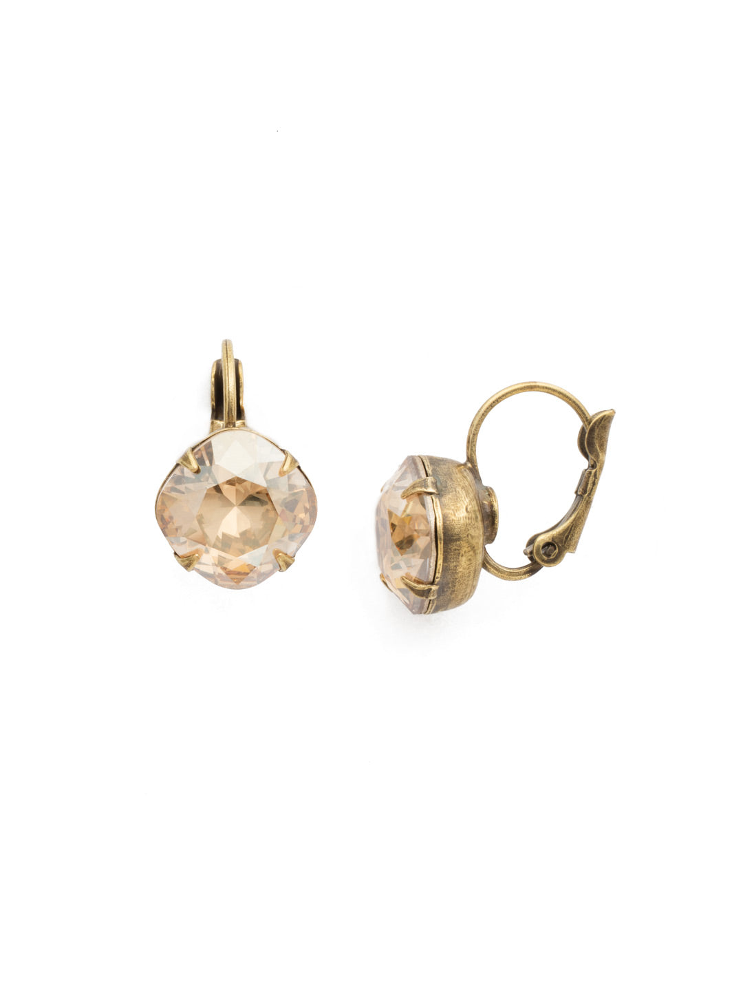Cushion-Cut Dangle Earrings - EDL12AGDCH