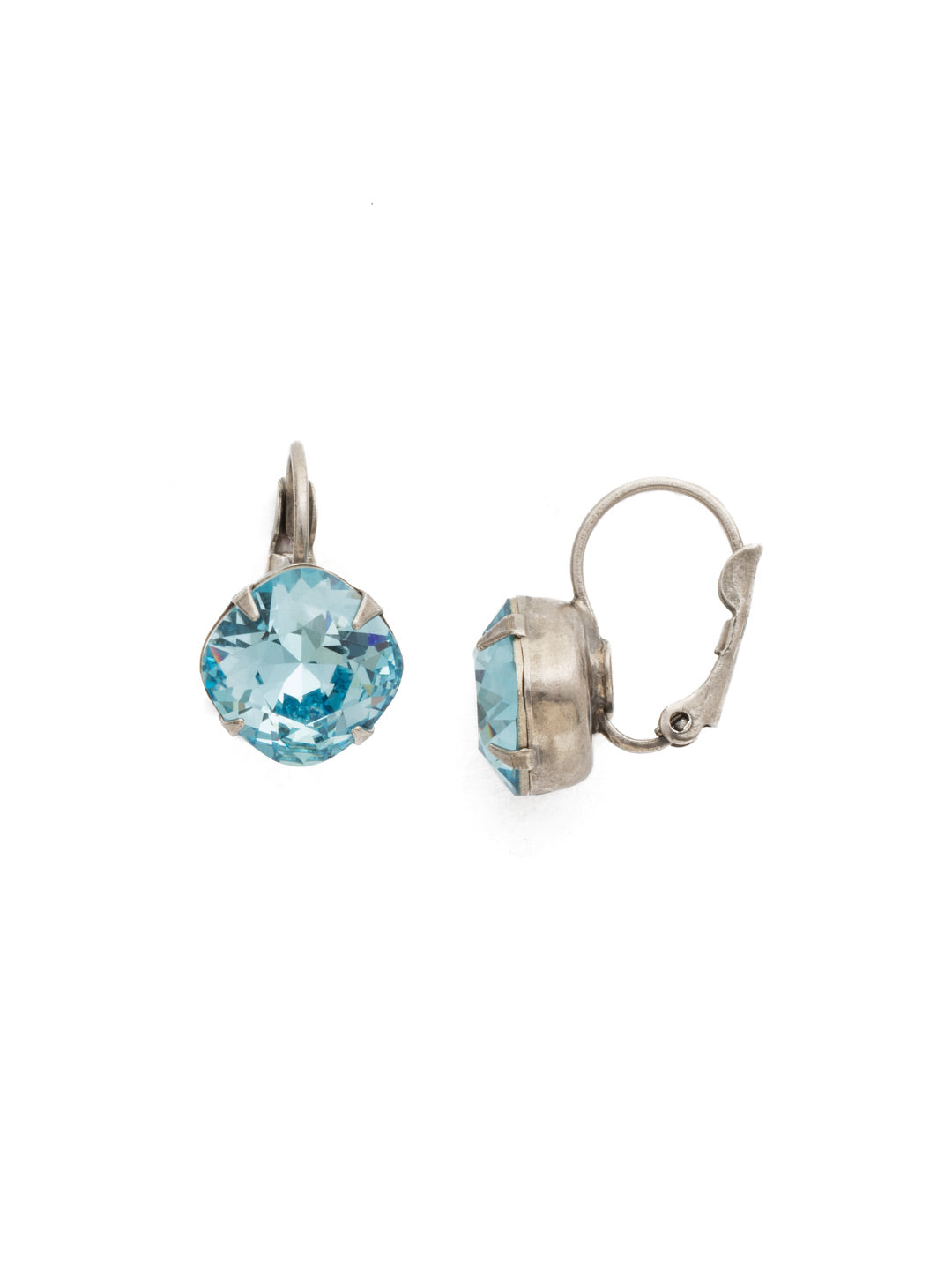 Cushion Cut French Wire Earrings - Sorrelli Essentials - EDL12ASAQU
