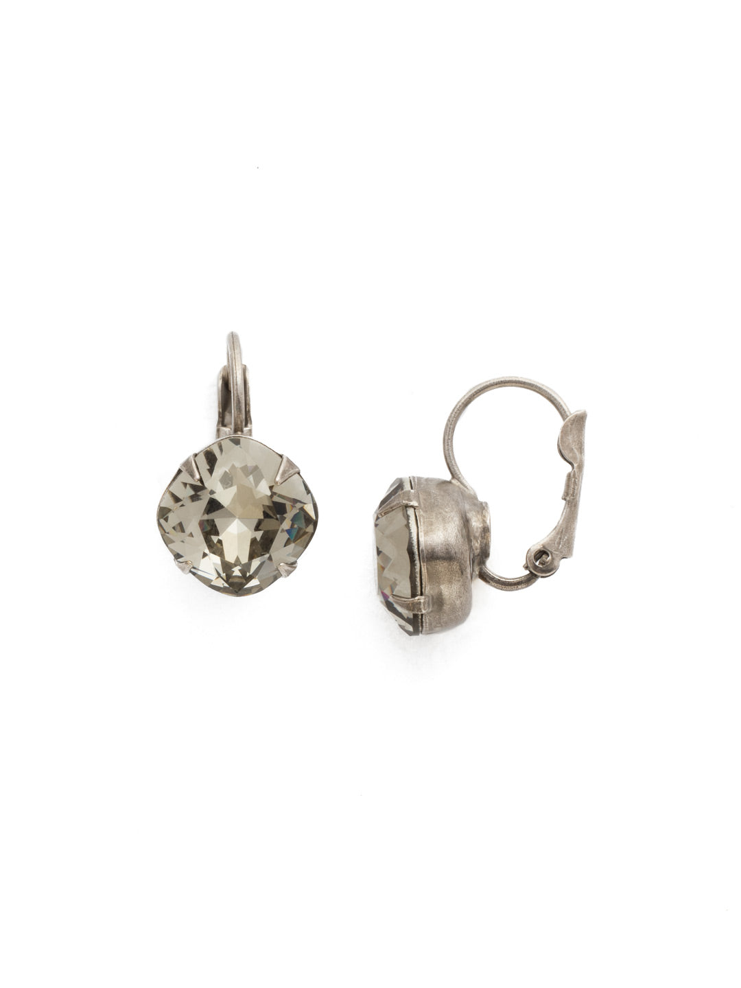 Cushion Cut French Wire Earrings - Sorrelli Essentials - EDL12ASBD