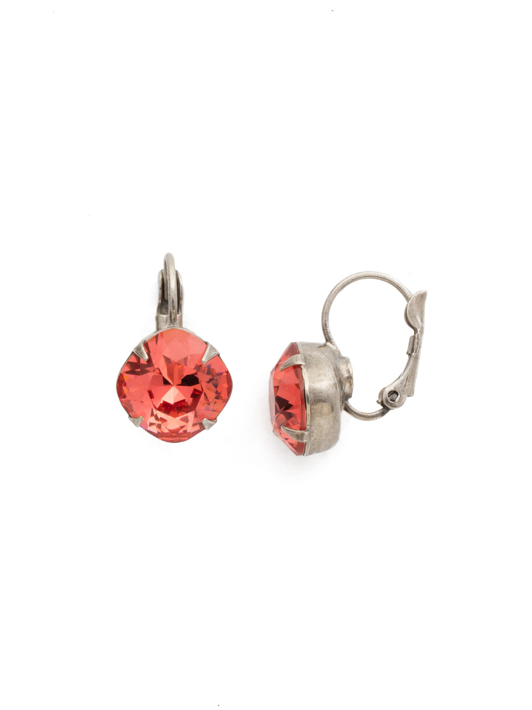 Cushion-Cut Dangle Earrings - EDL12ASCRL