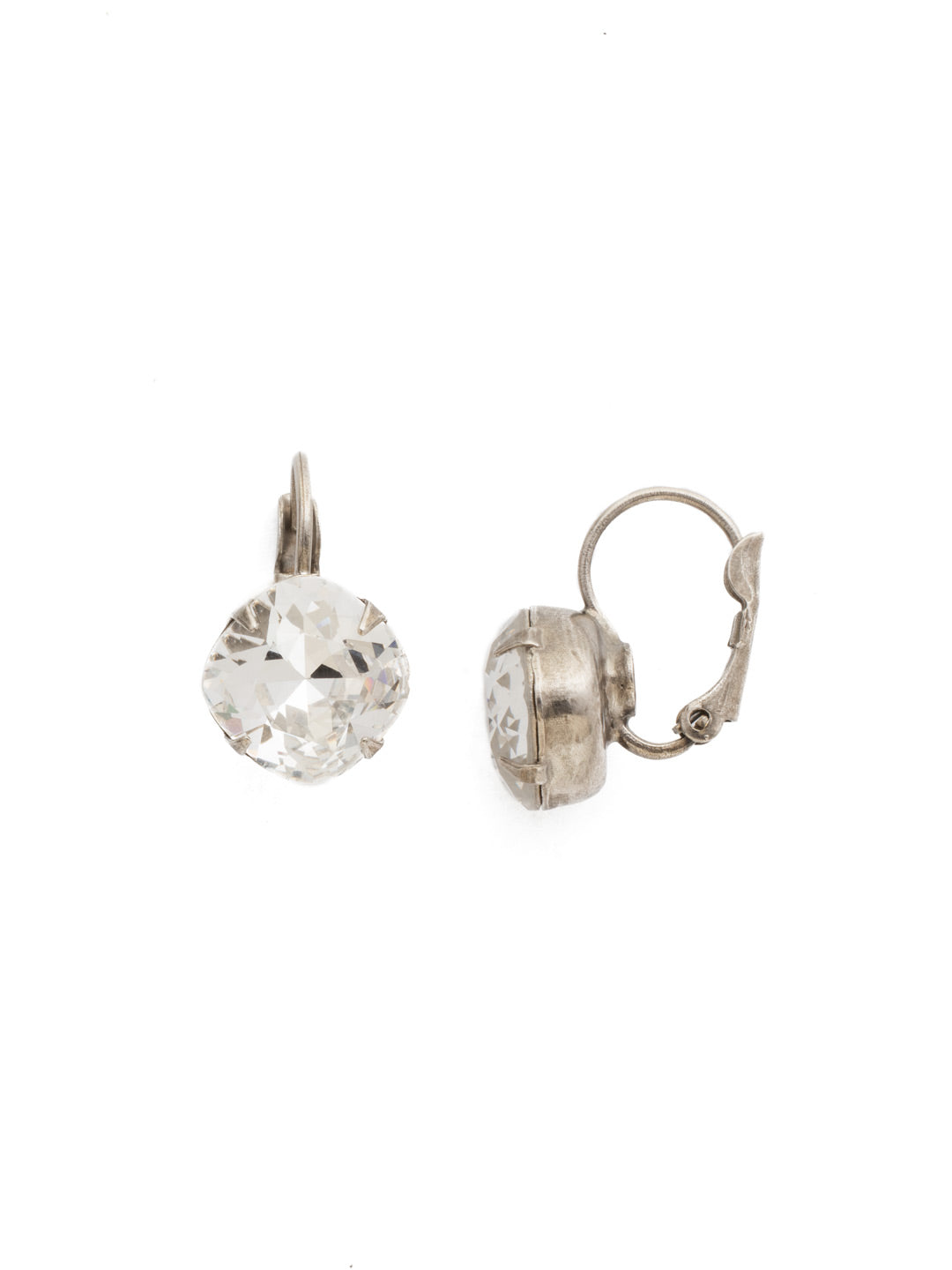 Cushion Cut French Wire Earrings - Sorrelli Essentials - EDL12ASCRY