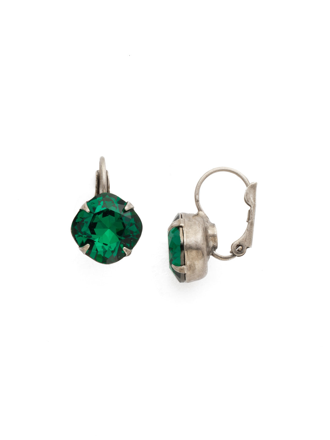 Cushion Cut French Wire Earrings - Sorrelli Essentials - EDL12ASEME