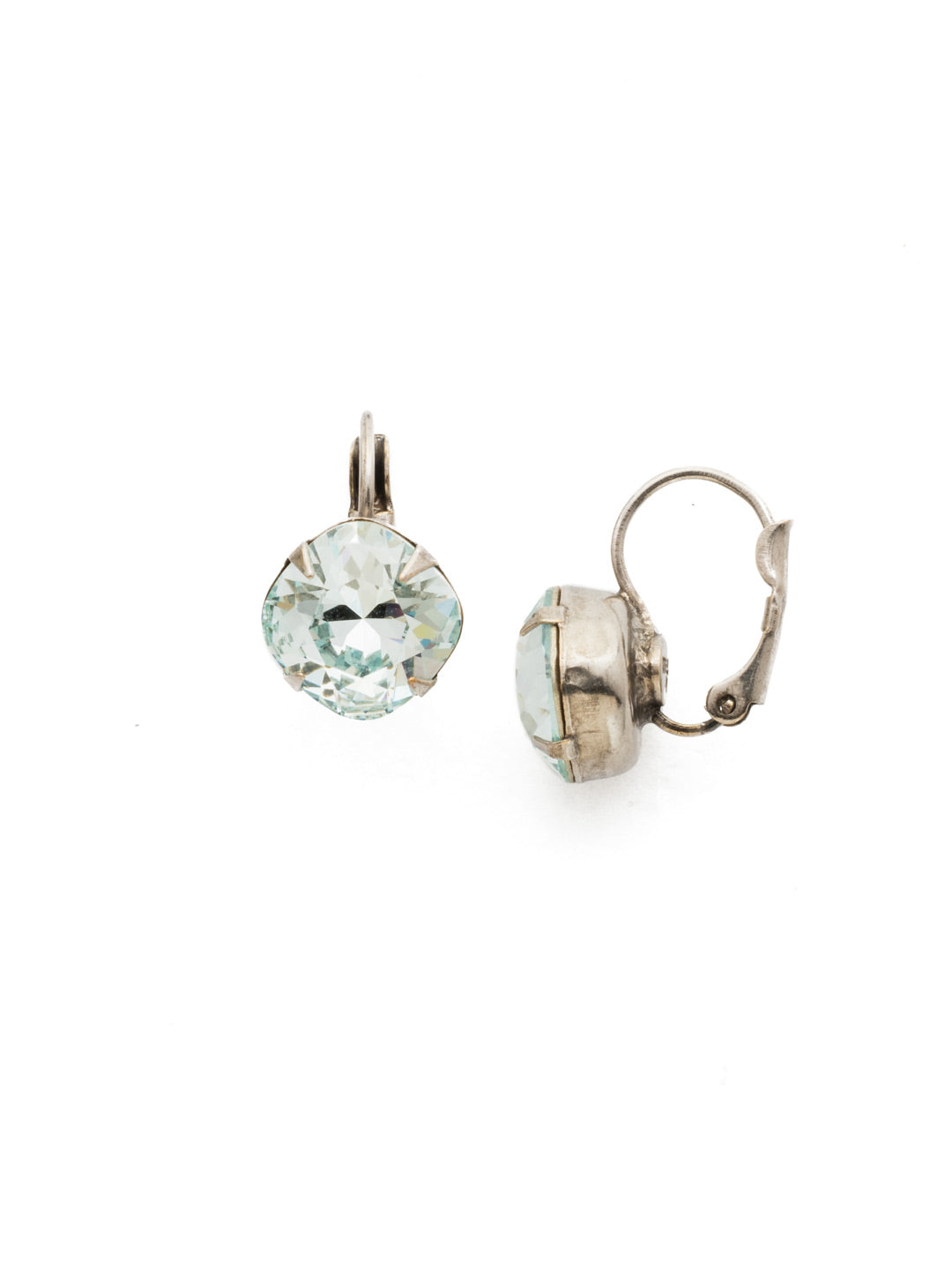 Cushion Cut French Wire Earrings - Sorrelli Essentials - EDL12ASLAQ