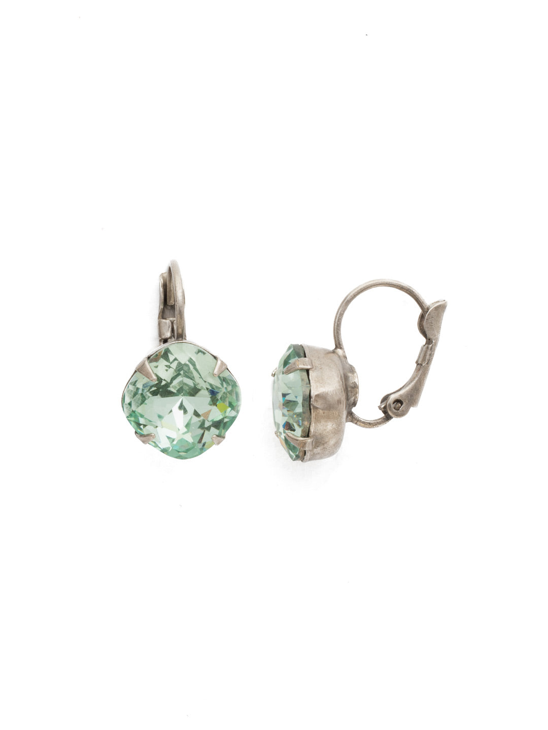 Cushion Cut French Wire Earrings - Sorrelli Essentials - EDL12ASMIN