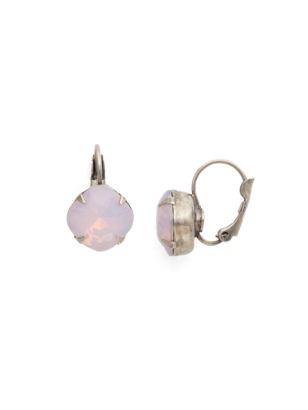 Cushion-Cut Dangle Earrings - EDL12ASROW