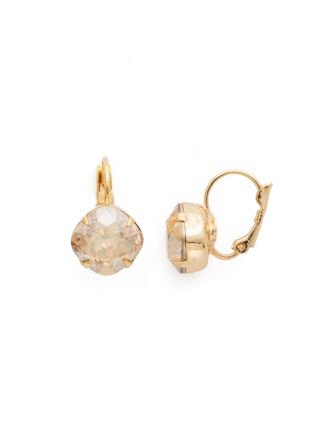Cushion Cut French Wire Earrings - Sorrelli Essentials - EDL12BGDCH