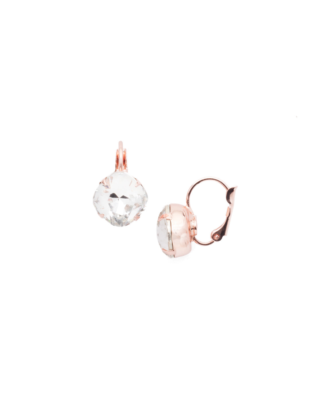 Cushion-Cut Dangle Earrings - EDL12RGCRY