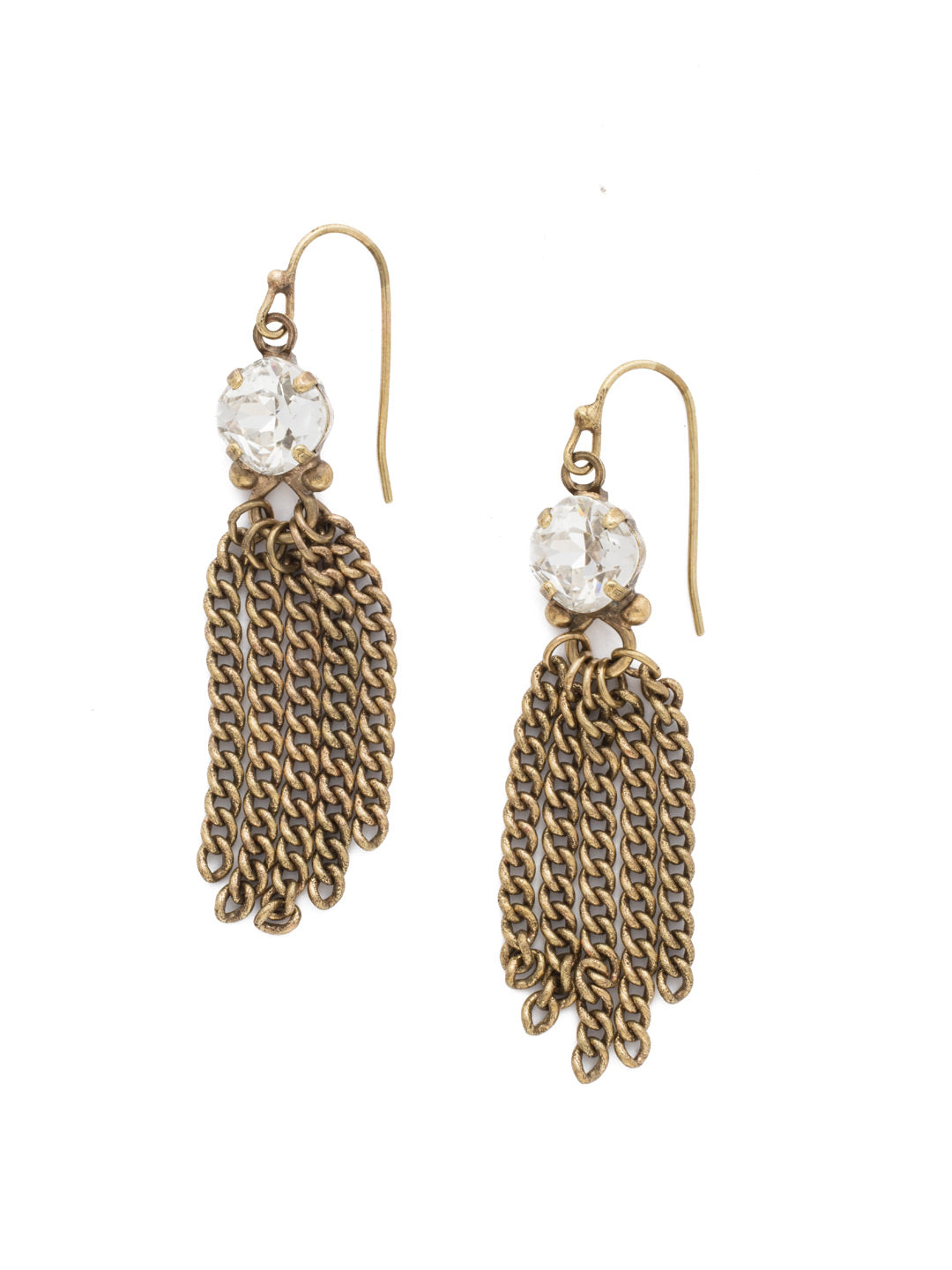 Chain Gang Dangle Earrings - EDL25AGCRY