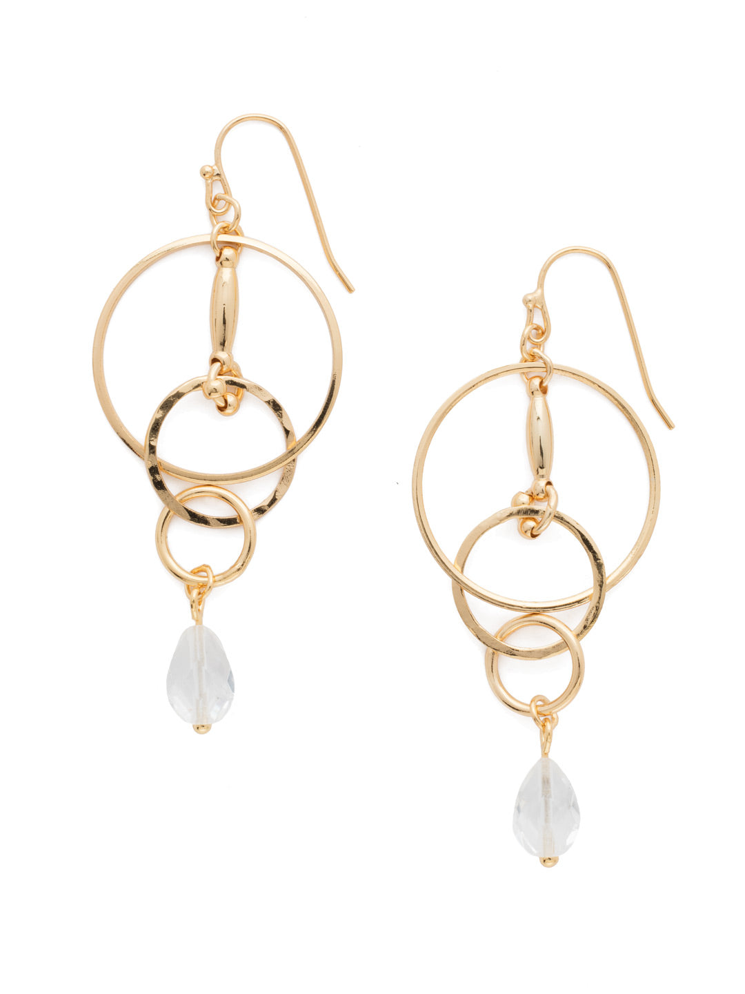 Interlocking Circles Earring - EDL33BGCRY