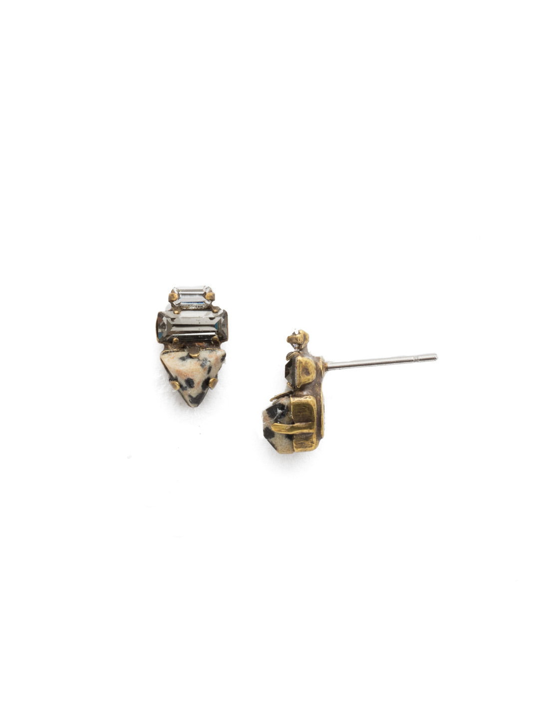 Triple Stack Stud Earrings - EDN104AGNEL