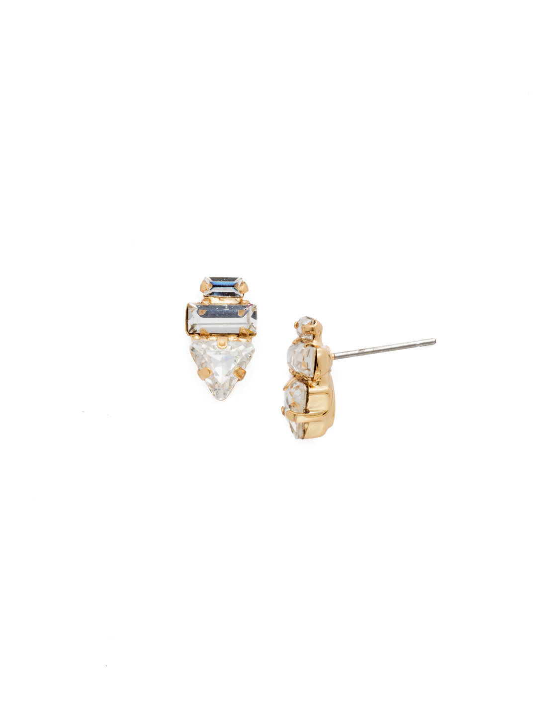 Triple Stack Stud Earrings - EDN104BGCRY