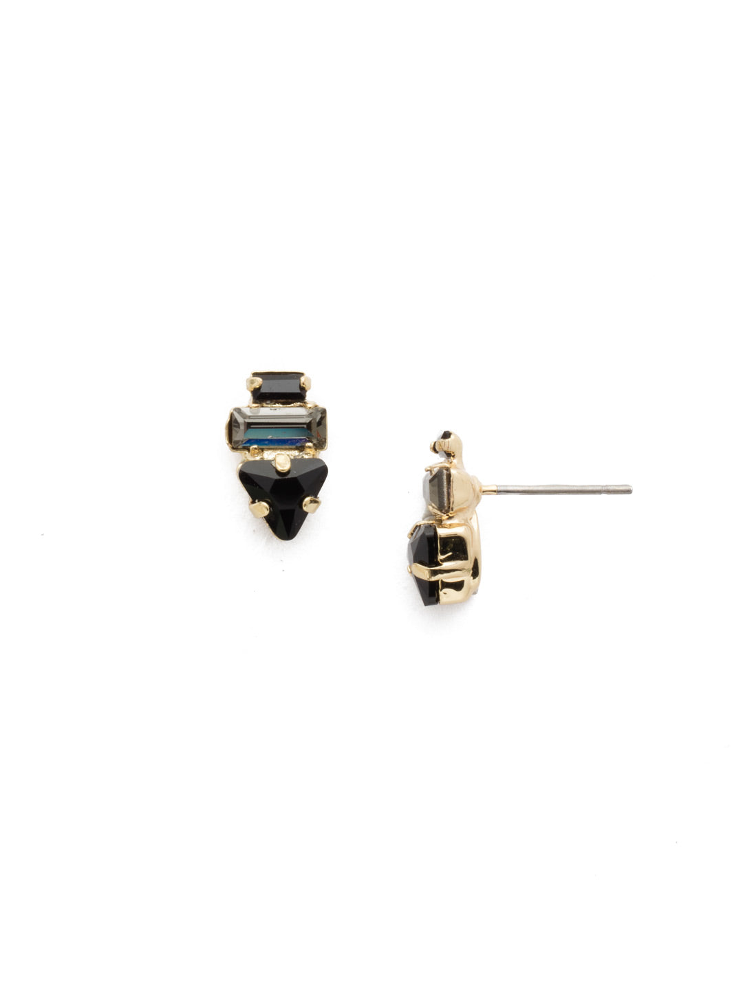 Triple Stack Stud Earrings - EDN104BGJET