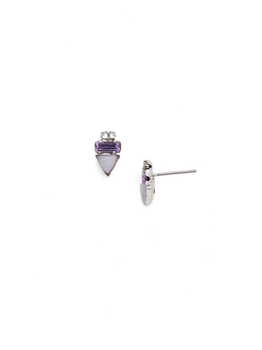 Triple Stack Stud Earrings - EDN104RHTUL