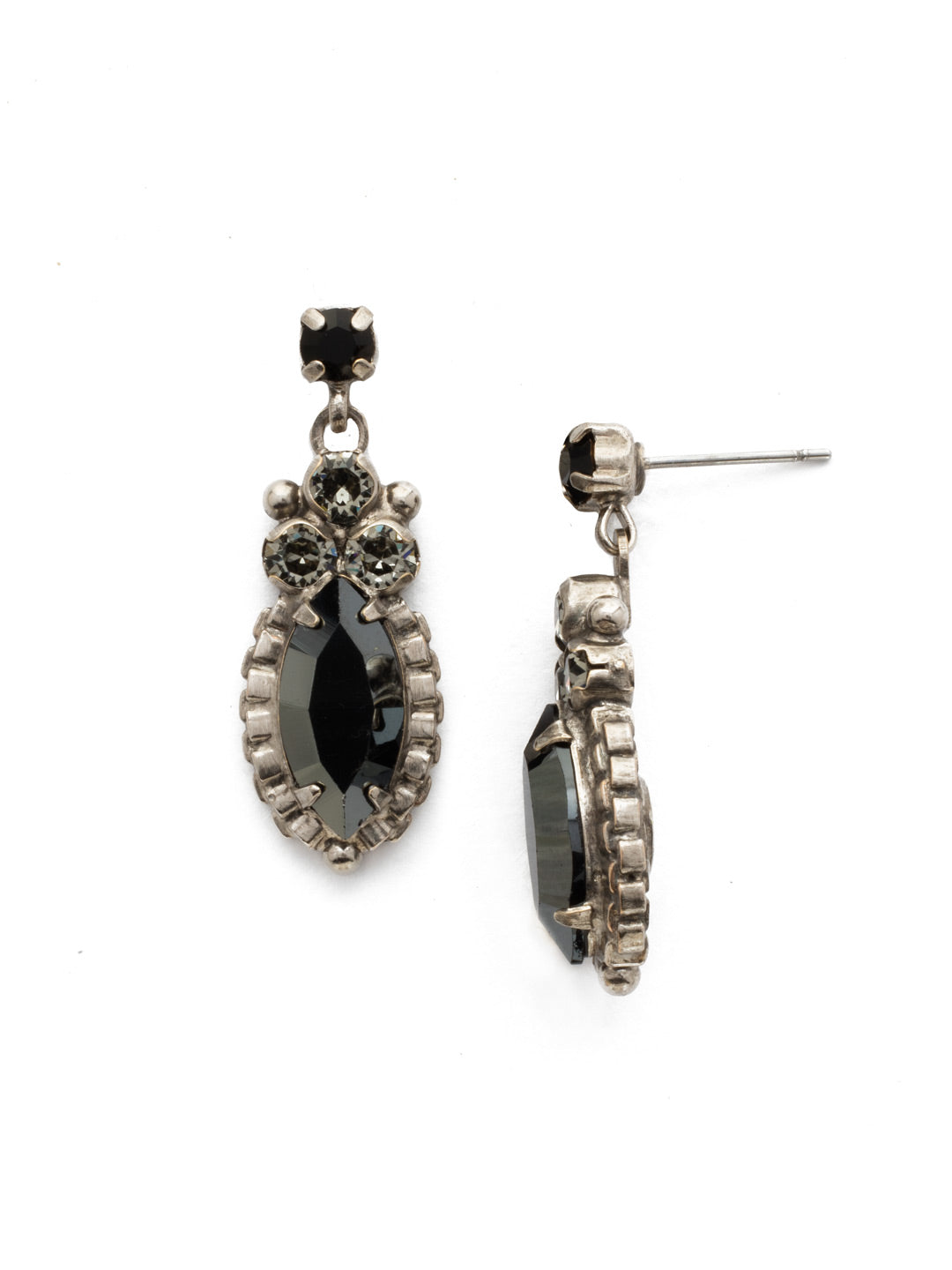 Noble Navette Drop Earring - EDN10ASBON