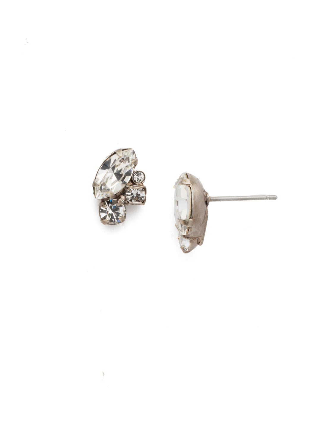 Marquise Cluster Stud Earrings - EDN1ASCRY