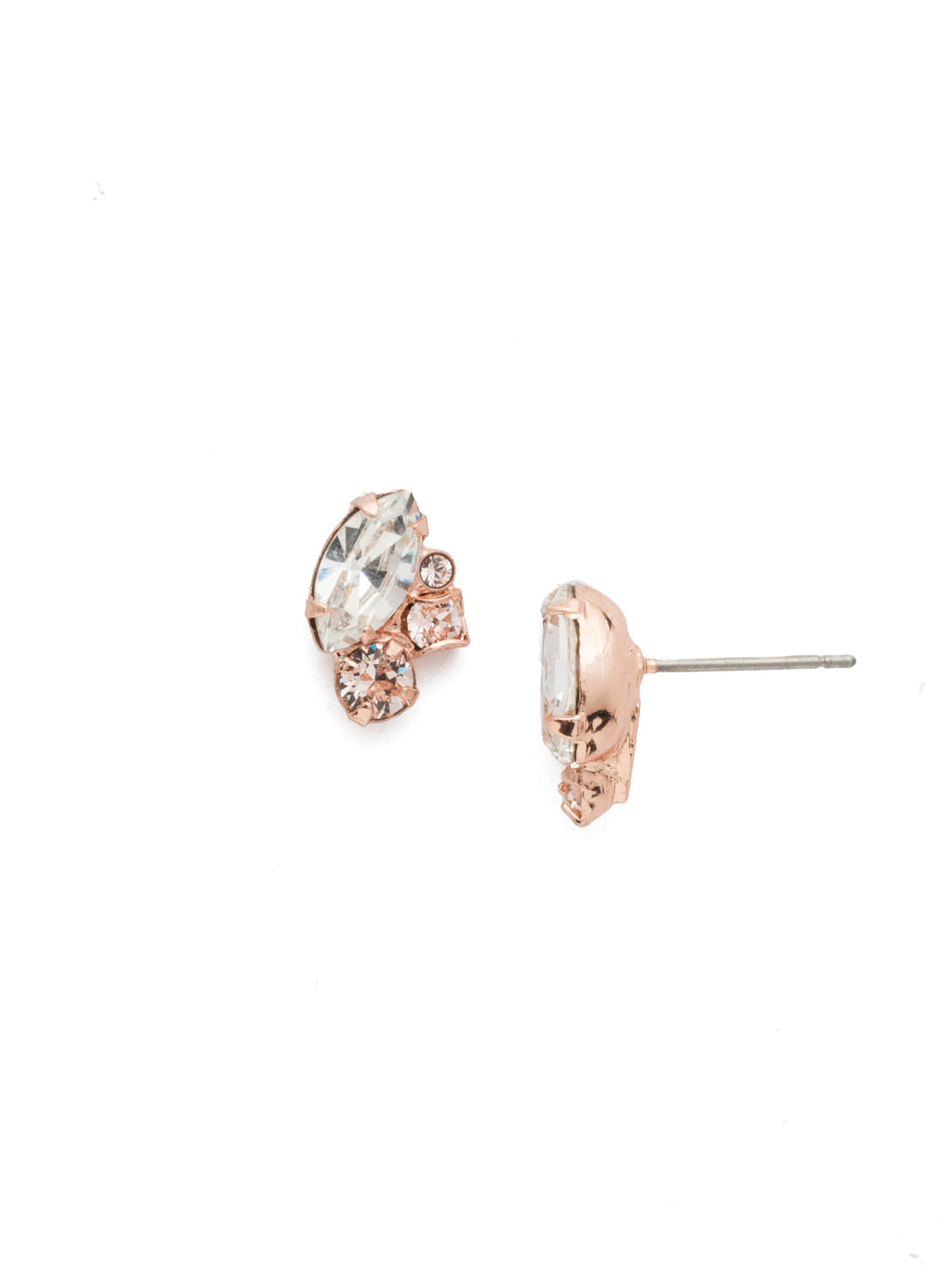 Marquise Cluster Stud Earrings - EDN1RGSNB
