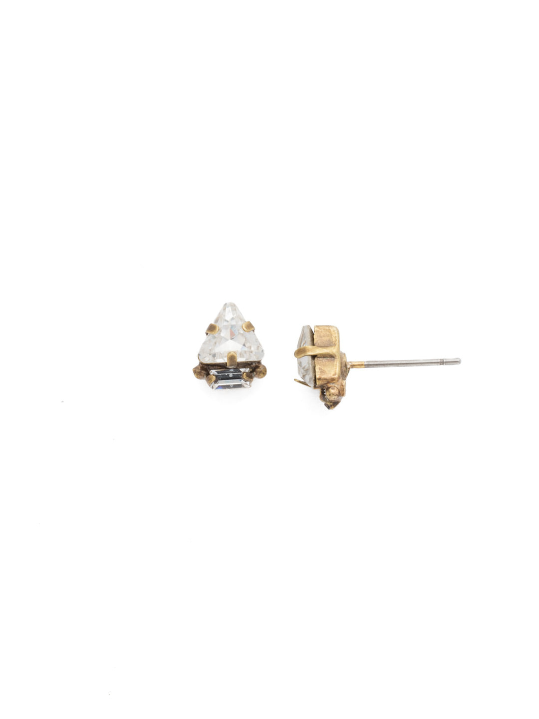 Tri-ed and True Crystal Earring - EDN51AGCRY