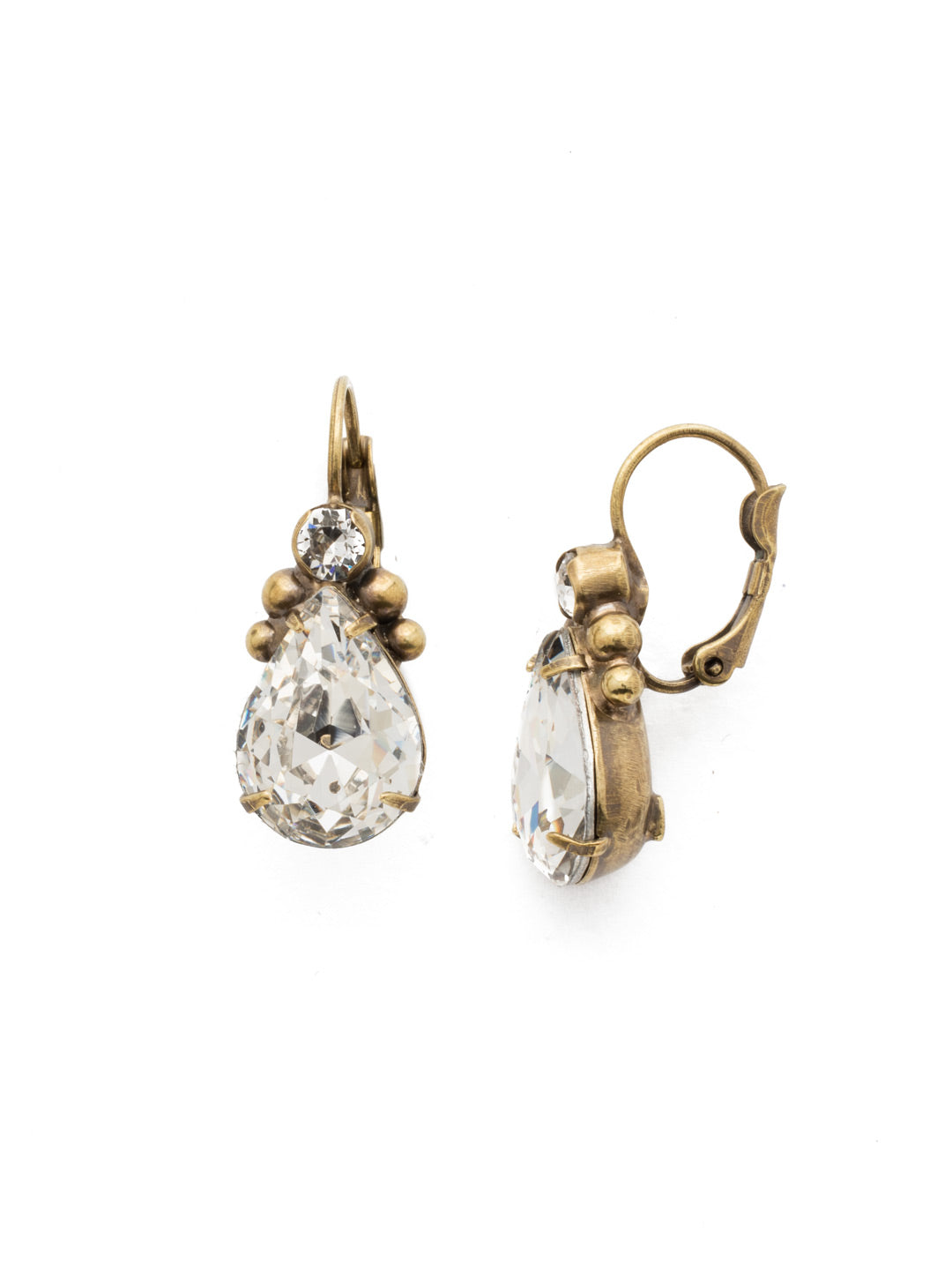 Embellished Pear Earring - EDN60AGCRY