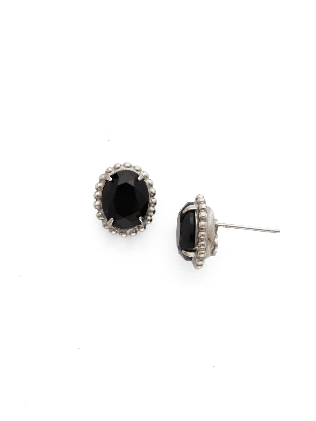Oval-Cut Solitaire Stud Earrings - EDQ10ASBON