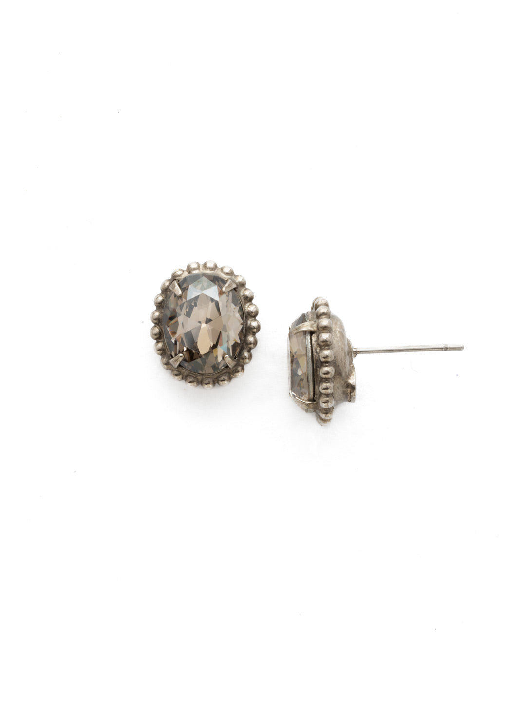 Oval-Cut Solitaire Stud Earrings - EDQ10ASCRO