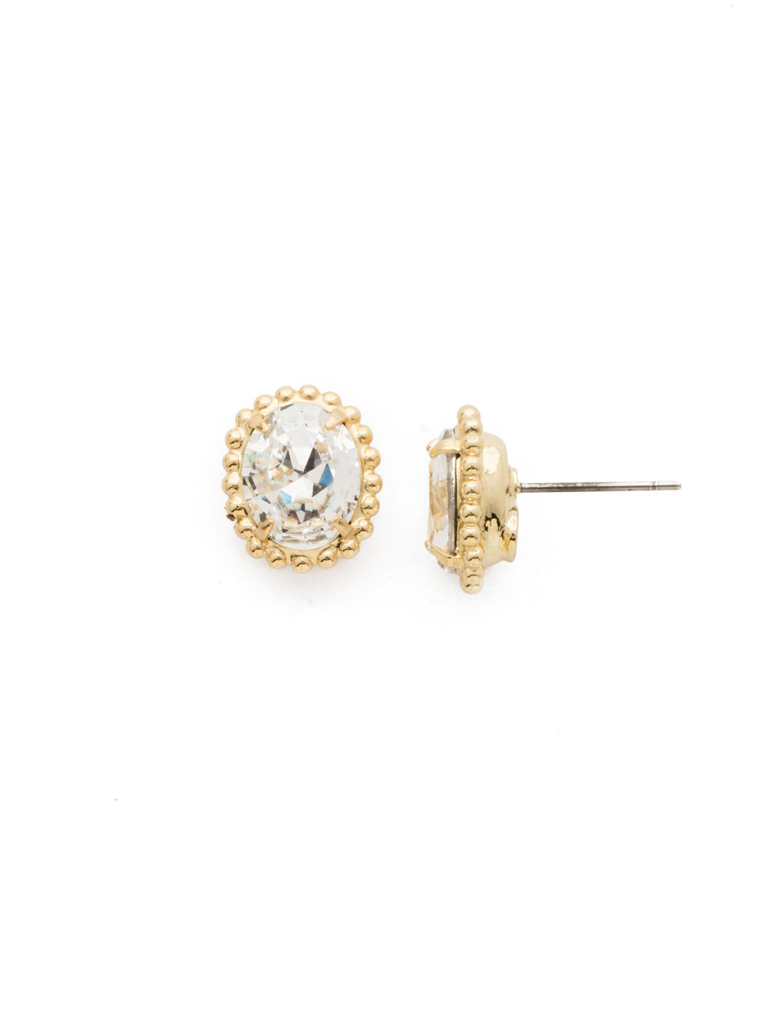 Oval-Cut Solitaire Stud Earrings - EDQ10BGCRY