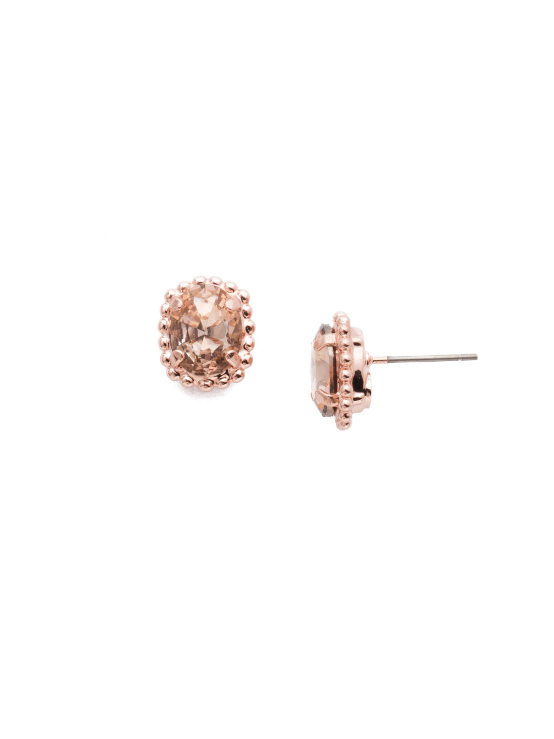Oval-Cut Solitaire Stud Earrings - EDQ10RGLVP