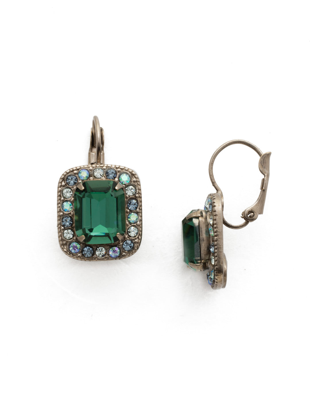 Opulent Octagon Dangle Earrings - EDQ50ASBSD