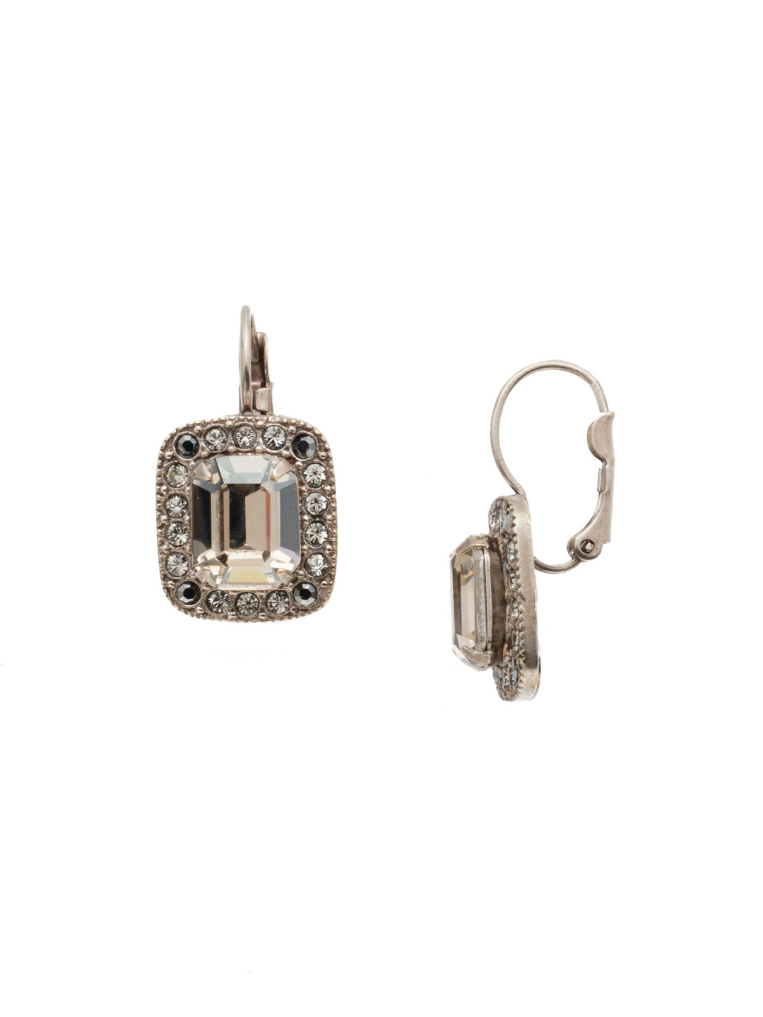 Opulent Octagon Dangle Earrings - EDQ50ASCRO