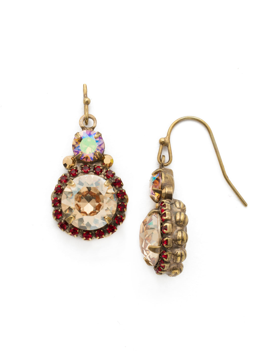 Embellished Rivoli Dangle Earrings - EDU44AGGGA
