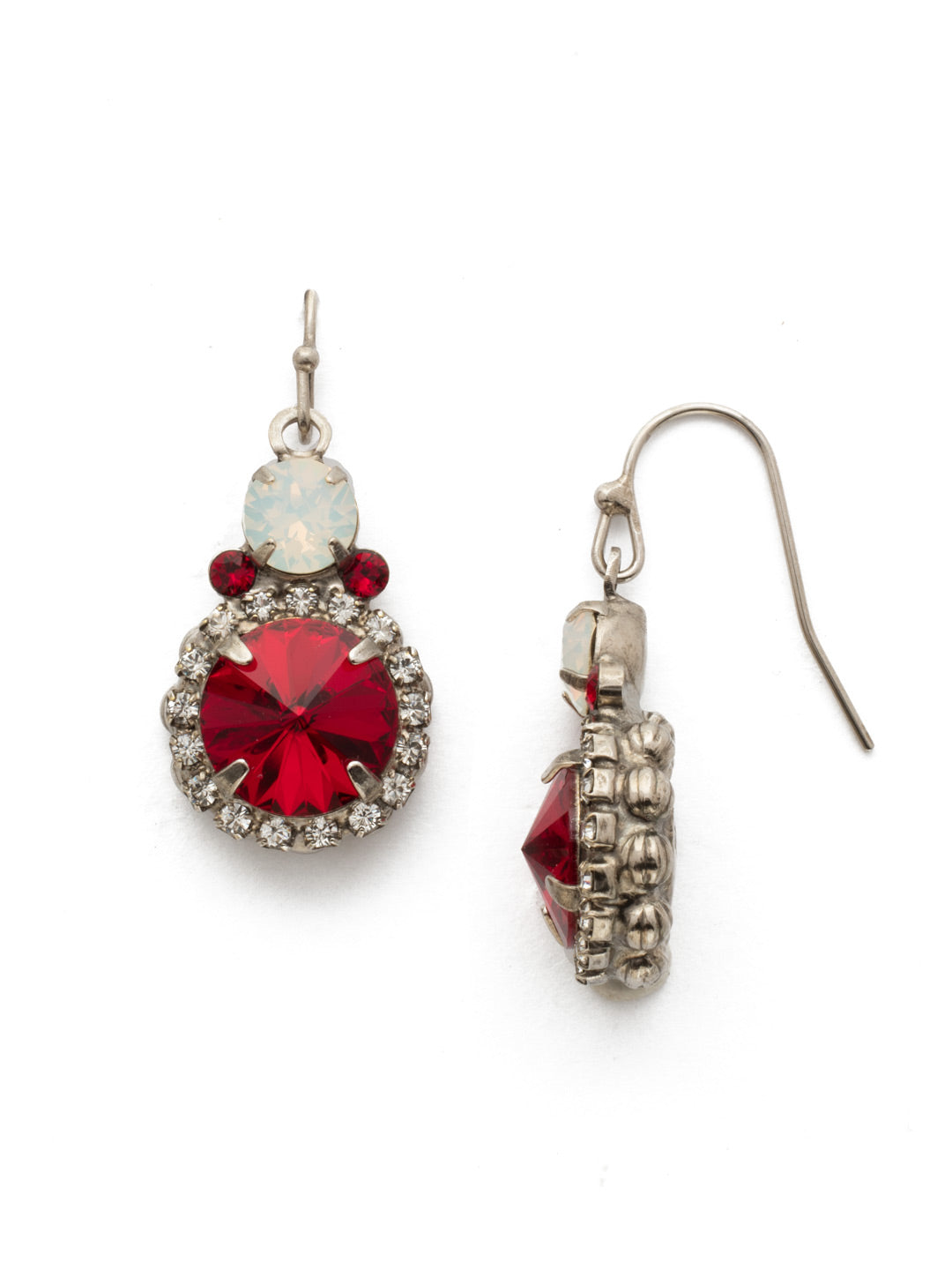Embellished Rivoli Dangle Earrings - EDU44ASCP