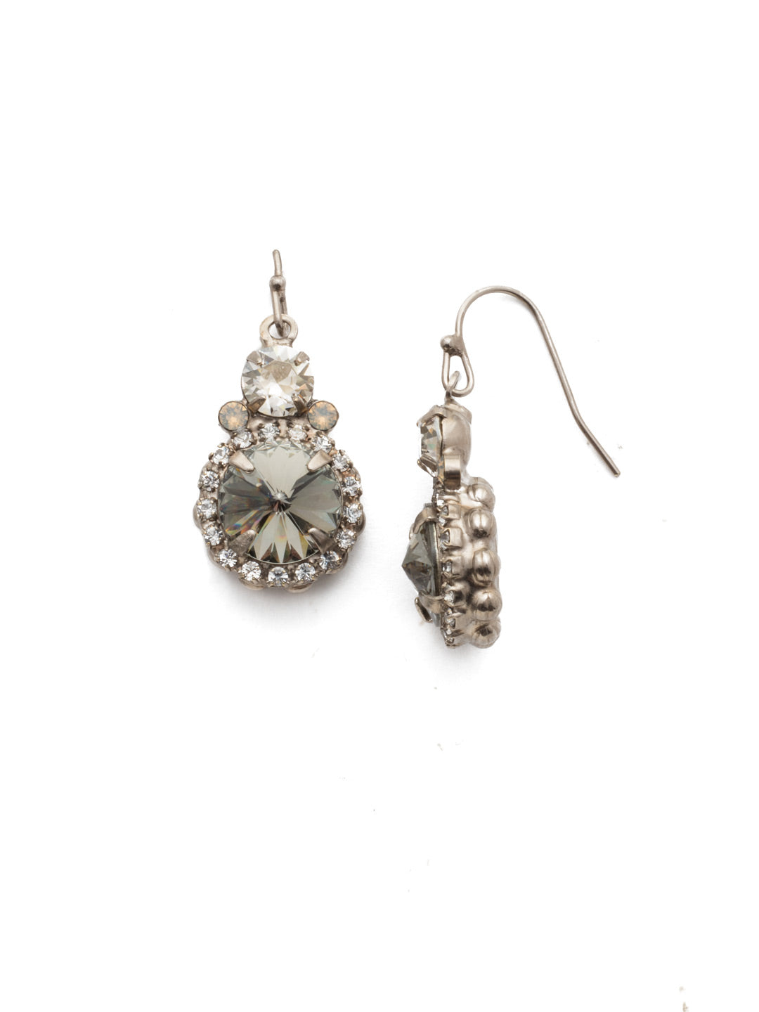 Embellished Rivoli Dangle Earrings - EDU44ASSTC