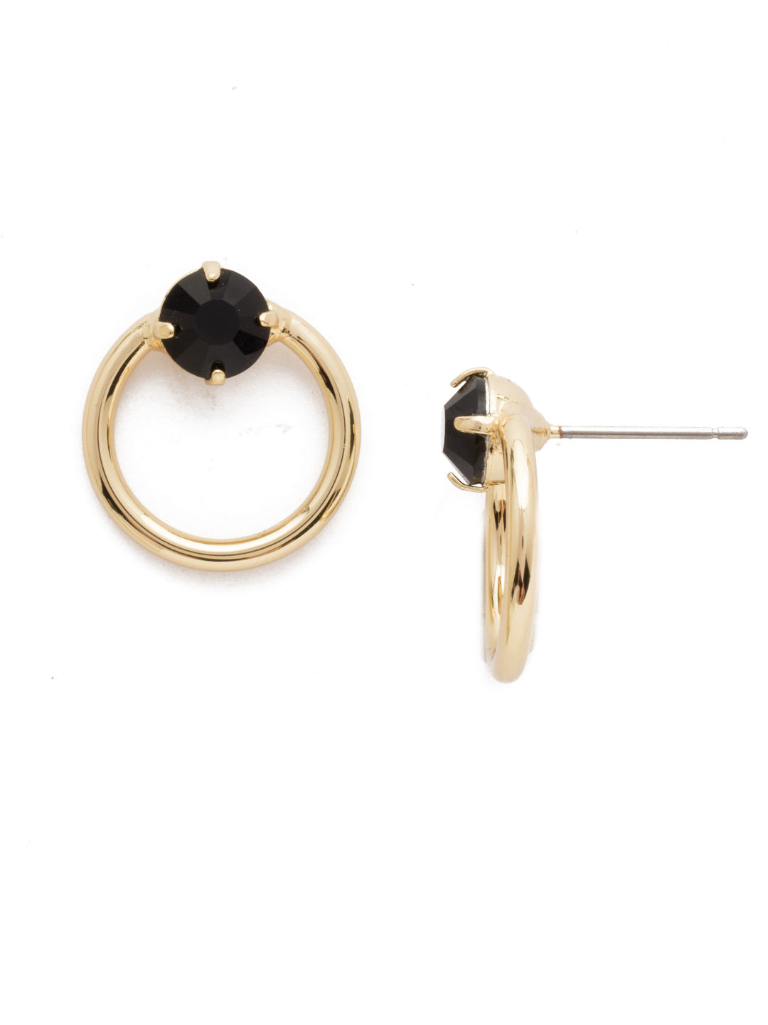 Circling the Middle Stud Earrings - EDW30BGJET