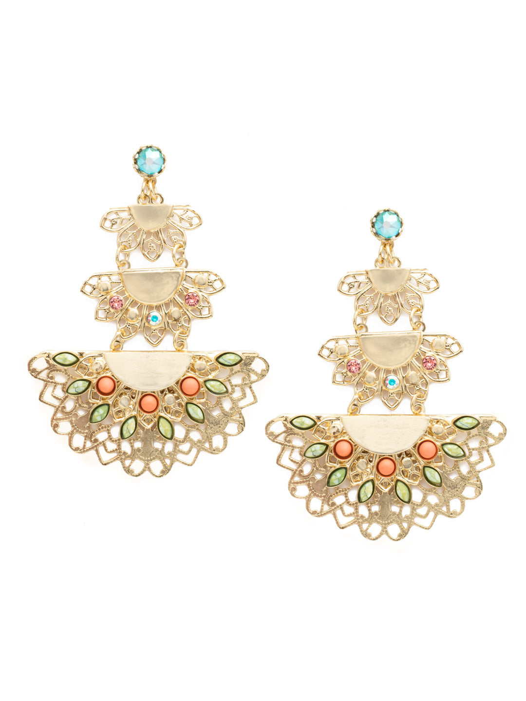 Simone Statement Post Earring - EDY12BGMNG