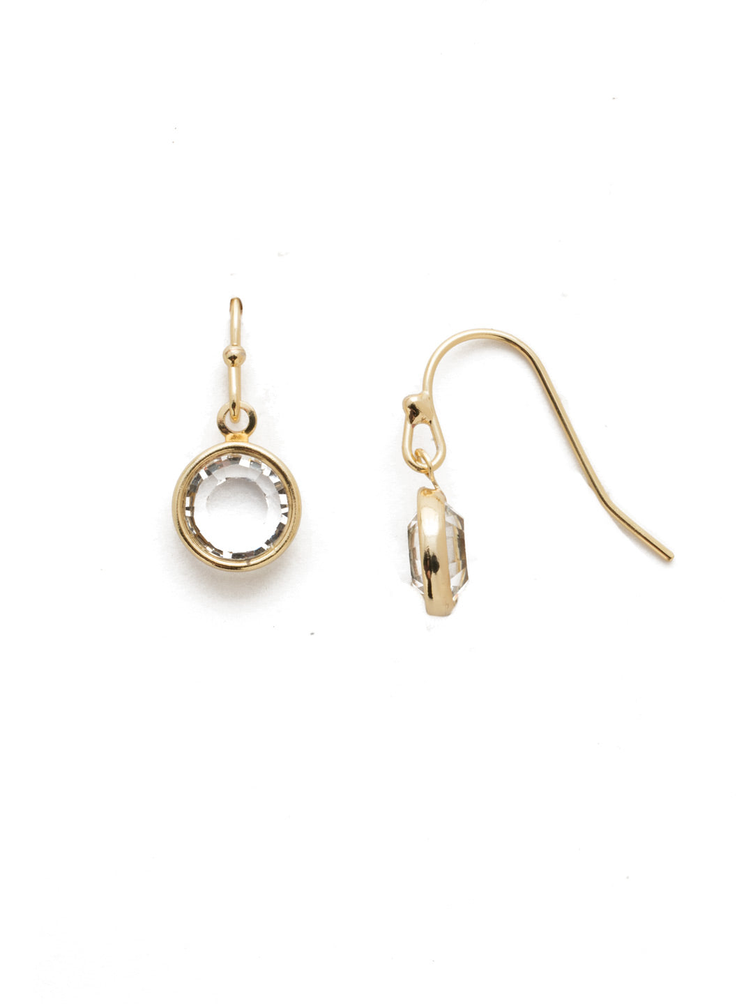 Dewdrop Crystal Dangle Earrings - EEF73BGCRY