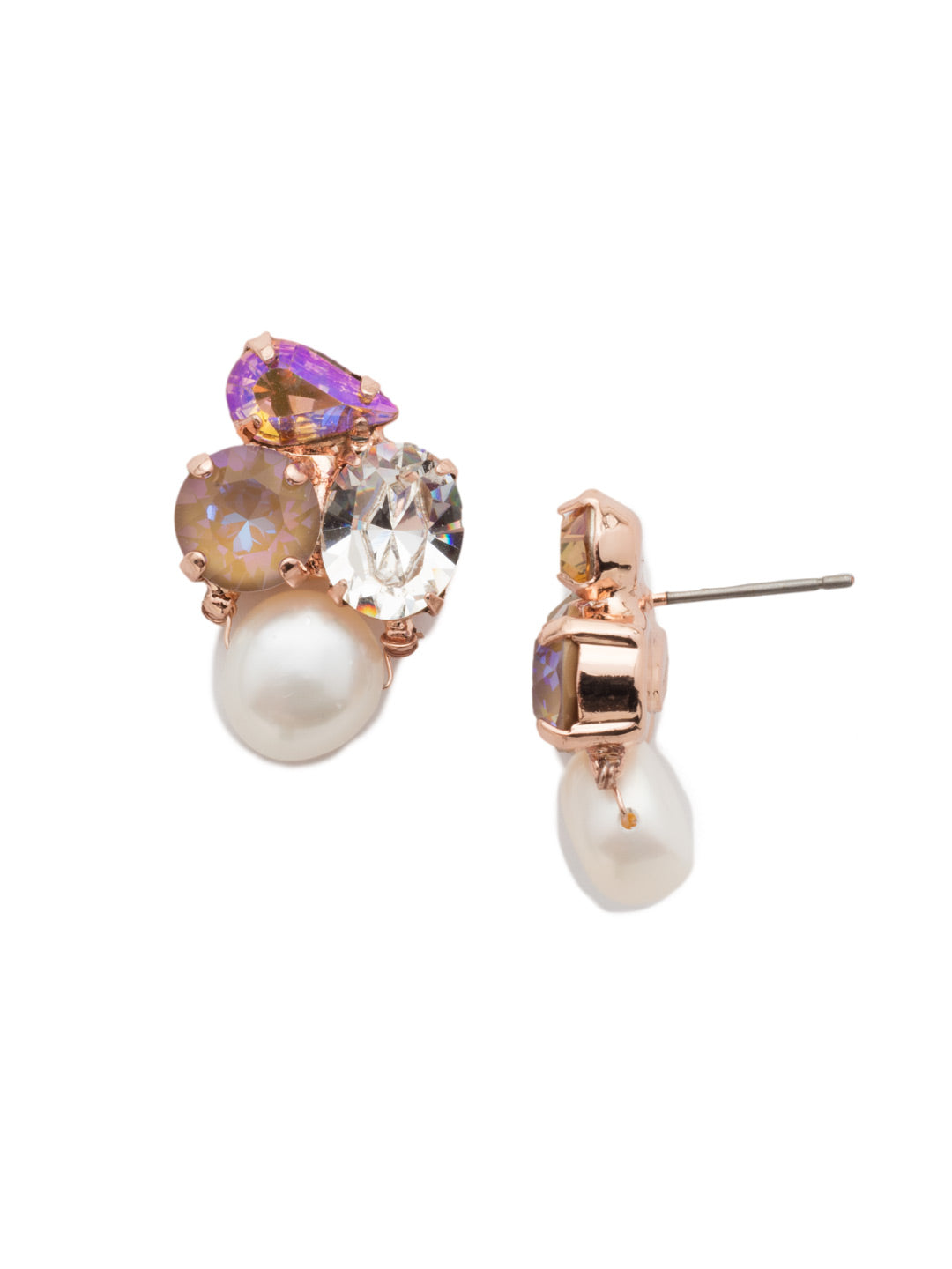 Aziza Stud Earrings - EEK18RGROG