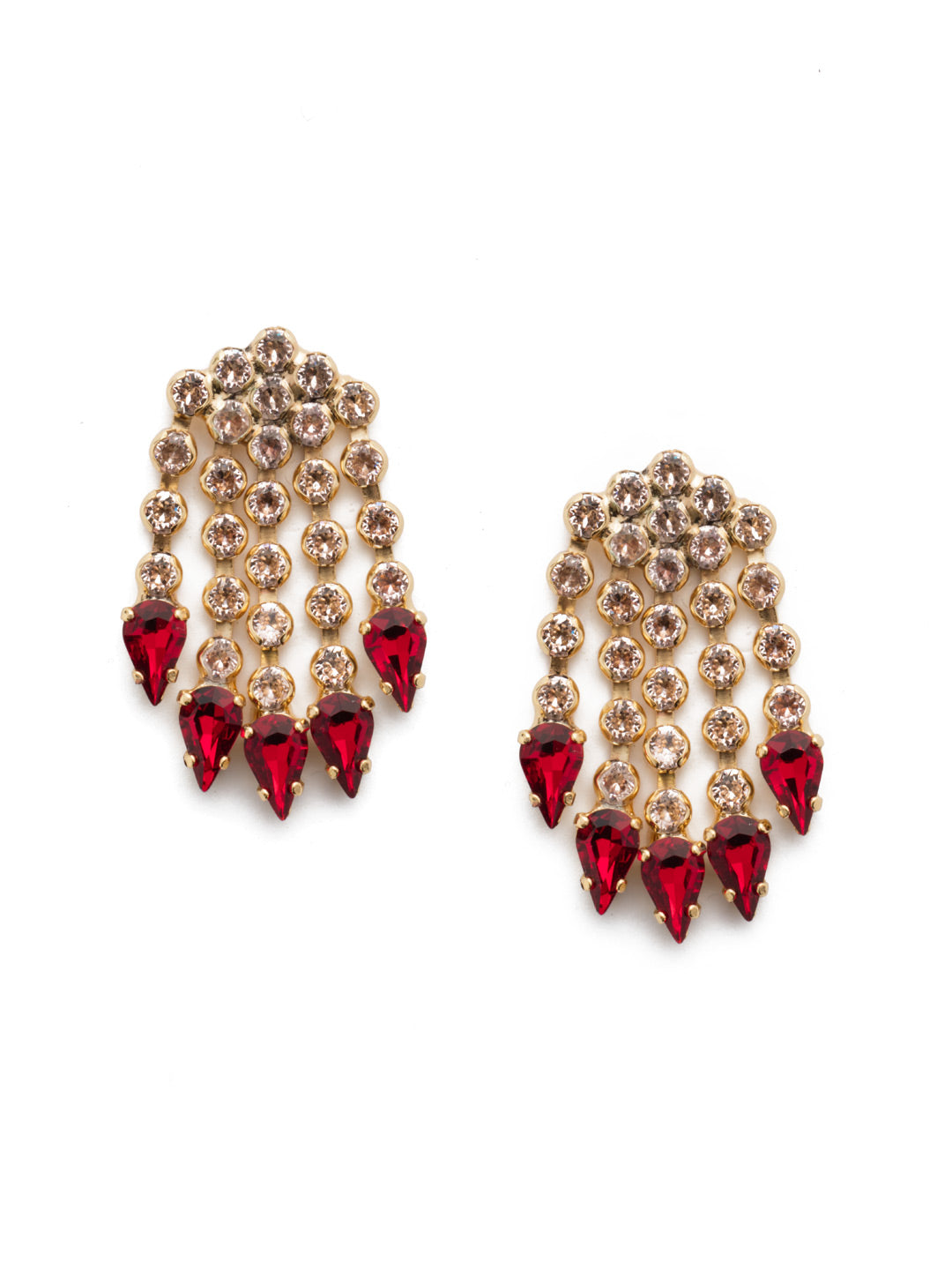 Living on the Fringe Statement Earring - EEP58BGSRC