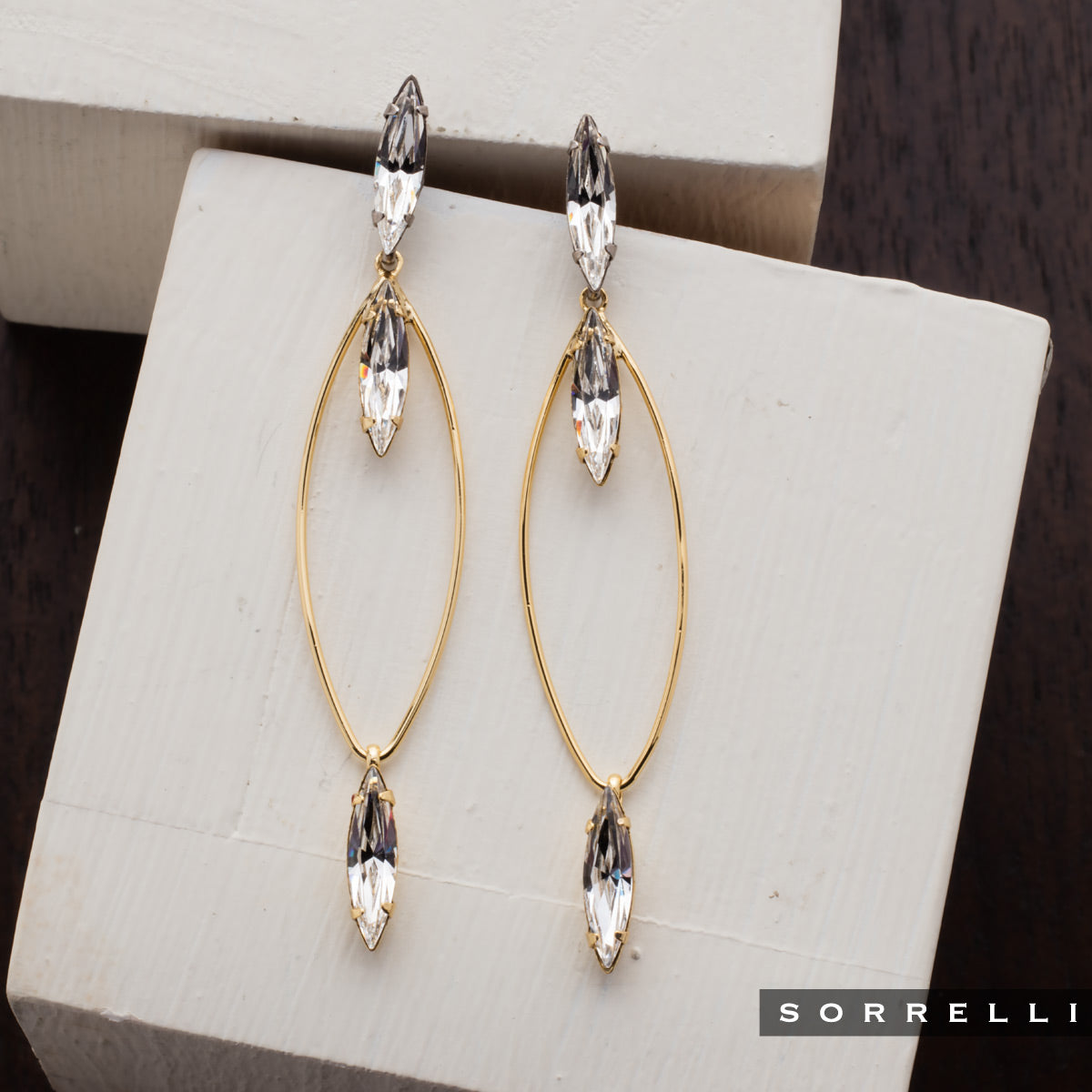 Valencia Statement Earrings - 4EEN161MXCRY