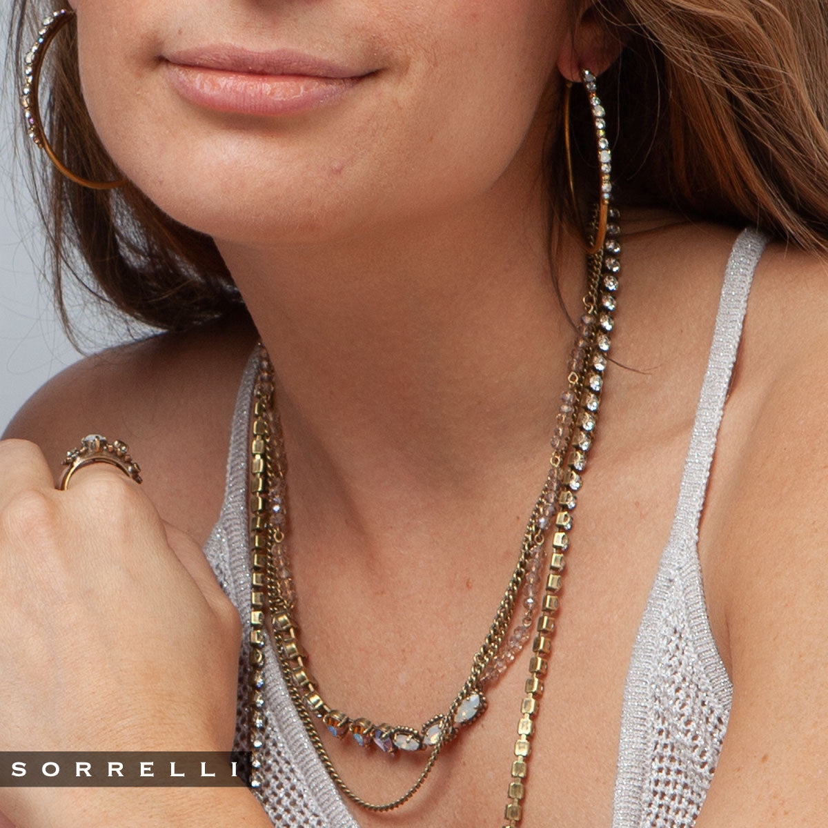 Fabienne Layered Necklace - NEK30AGROB