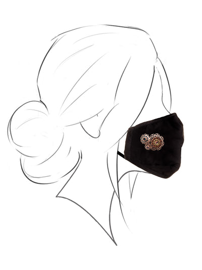 Face Covering with Adelaide Magnetic Charm - MSK111RGMUL